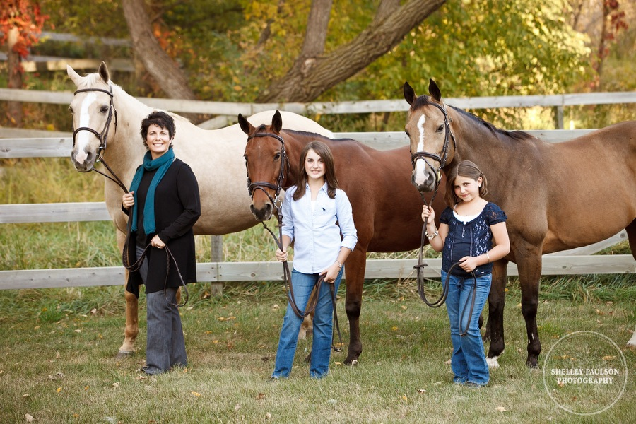 Rold Family Portraits with Horses