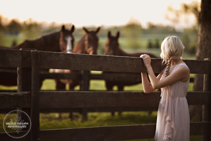 Portraits of Arielle (with a few horses)