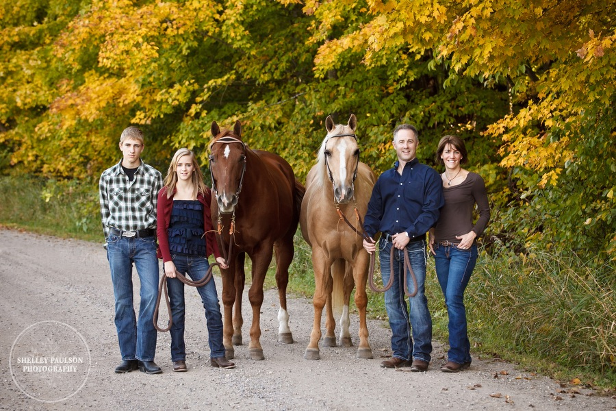 Tank Family Portraits with Horses