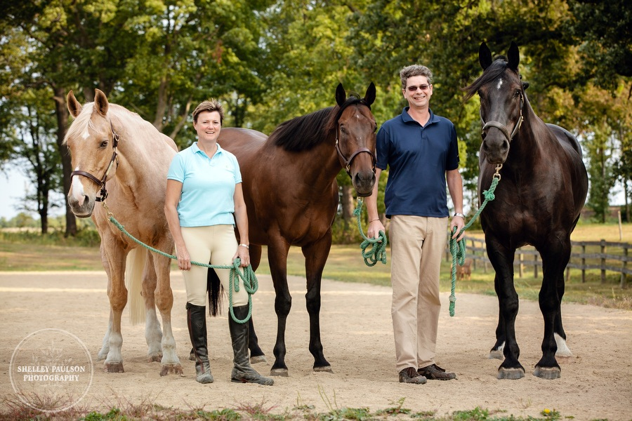 Rob and Linda, and their Cast of Characters…er…Horses