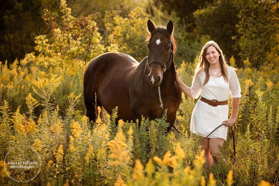 Sarah's Senior Photos with her Horse Ace