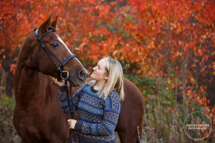 Hannah's Autumn Equestrian Senior Photos