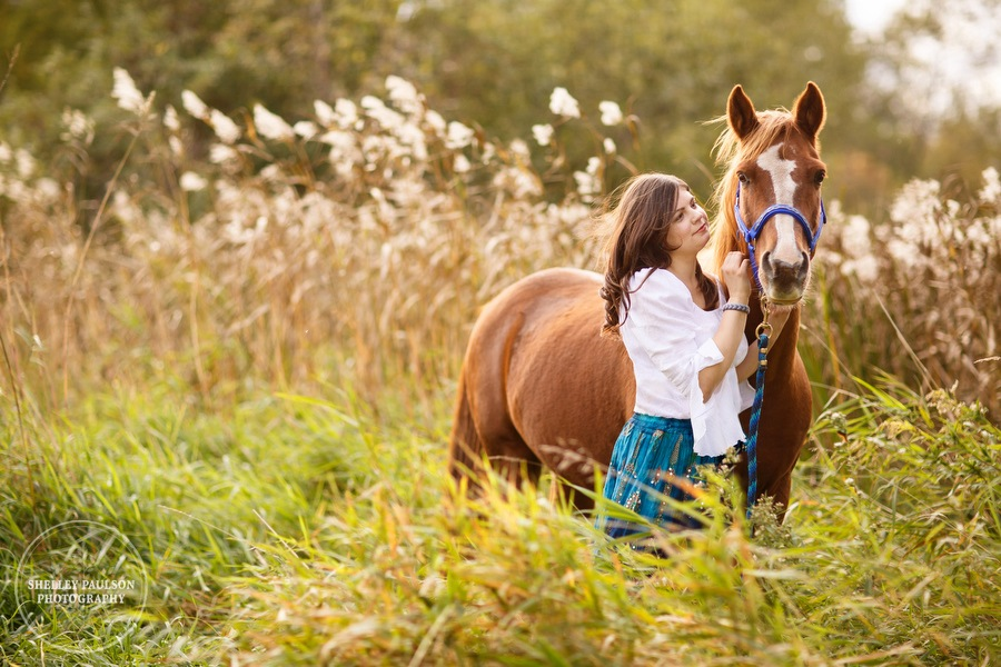 Abbie's Autumn Senior Photos with Her Horse Hercules