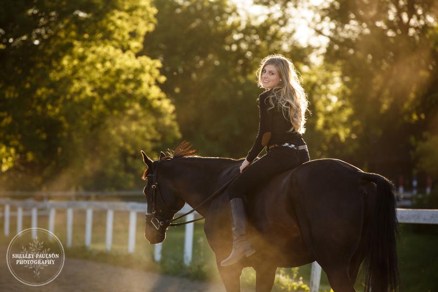 Tayler and Her Horse Le Soir, Equestrian Senior Portraits
