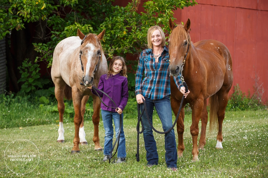 Katja, Emmi and Their Horses