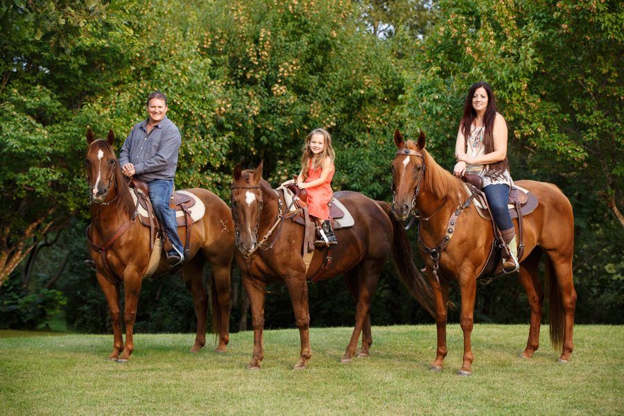 The Peterson Family and their Horses