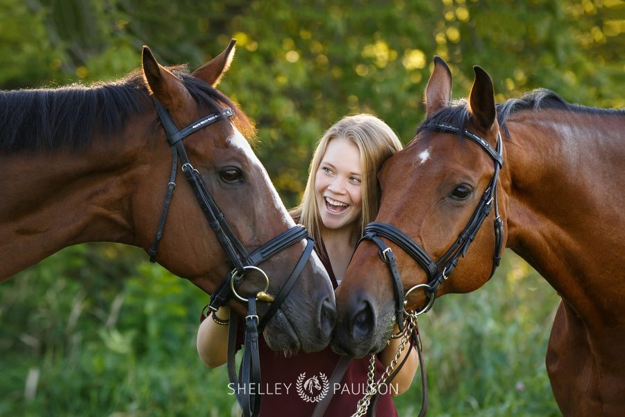 Greta's Senior Photos with Her Horses Remi & Raz