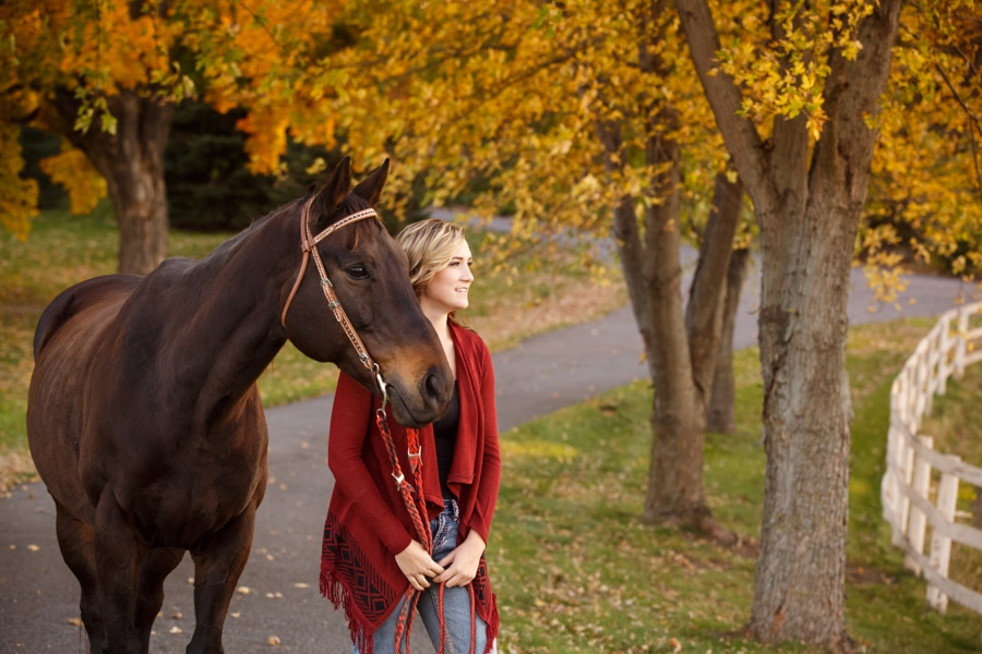 Kenzie's Senior Photos with her Horse Charmer
