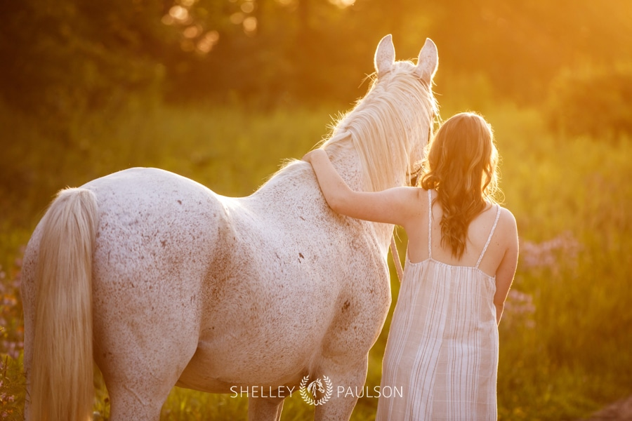High School Senior Girl with Horse