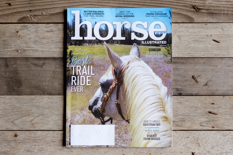 Cover and Photo Feature in August 2018 Horse Illustrated