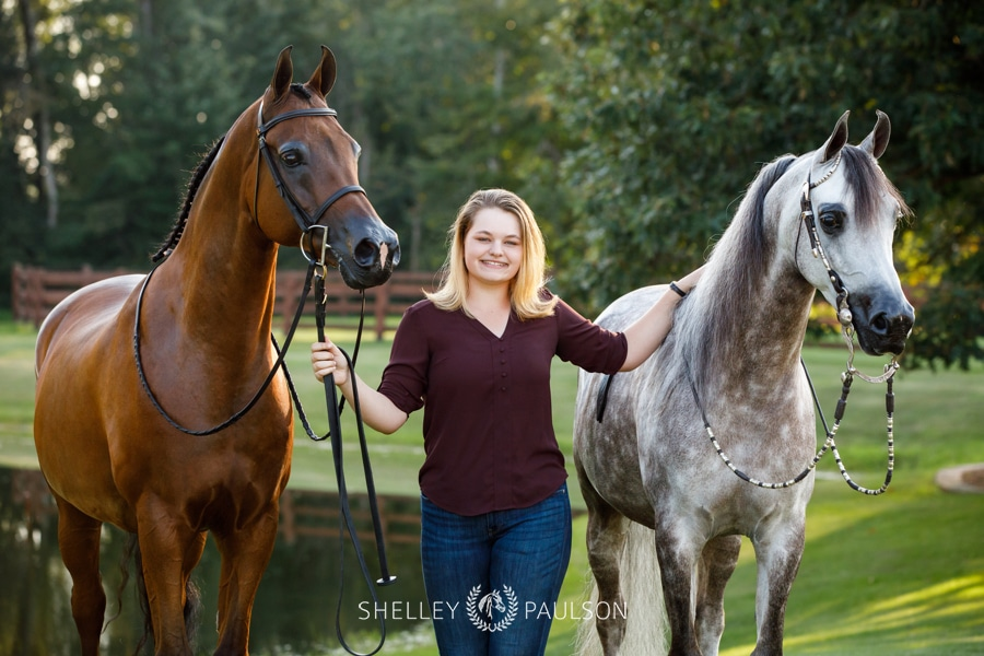 Katie's Senior Photos with her Arabian Horses