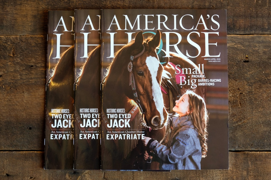 America's Horse, March/April 2019 – Cover, Writing, Photos and Video!