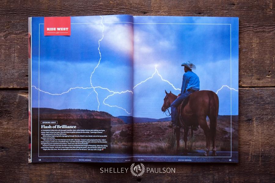 Western Horseman Opening Shot – A Flash of Brilliance
