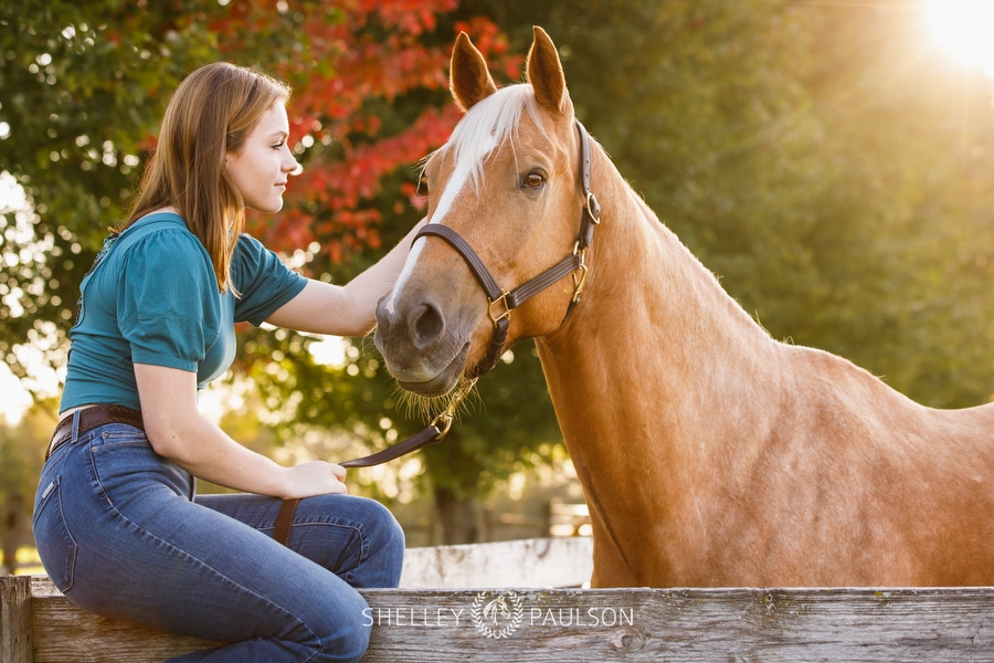 Equestrian Senior Portraits with Annika, Beau & Arrow