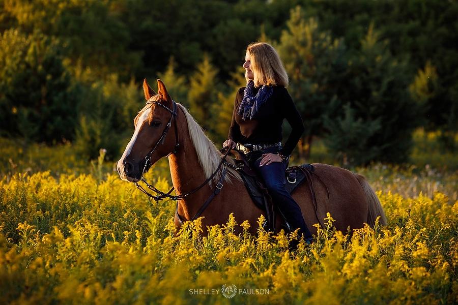 Equestrian Portrait of a Woman